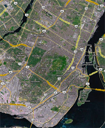 Google Map of Montreal and Environs